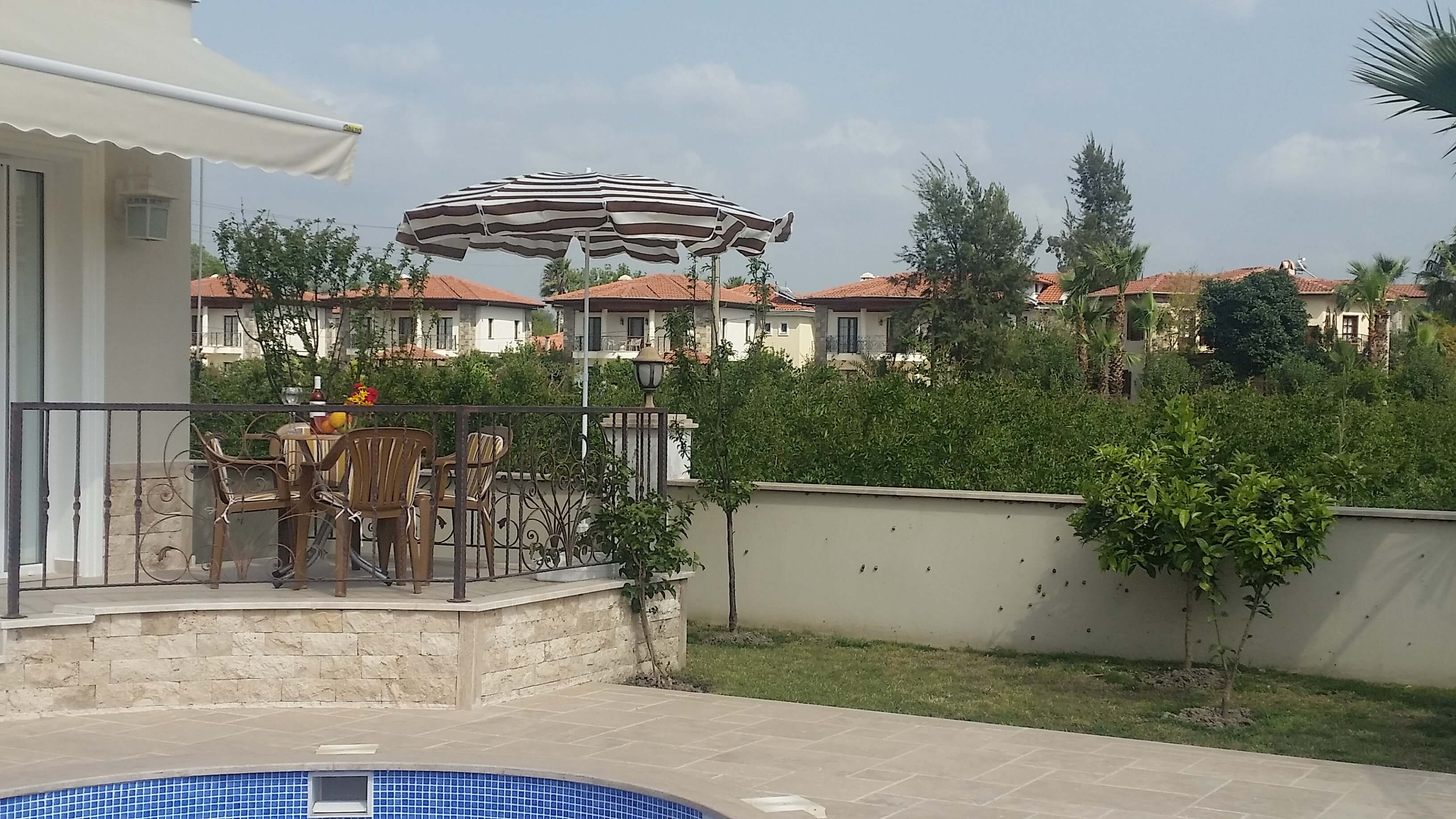 Outside the Apartment Pool, Terrace and View